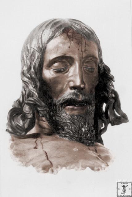 Busto del Crucificado de Mena desaparecido en la mañana del 12 de mayo de 1931.