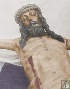 Antiguo Cristo de la Sangre, quemado -probablemente- en la hoguera organizada delante de la iglesia de la Merced en la mañana del 12 de mayo de 1931.