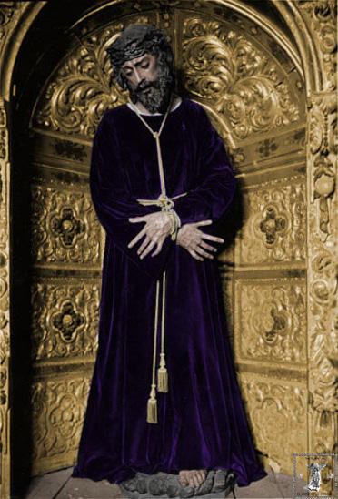 Nuestro Padre Jesús de la Salud en su altar de San Román.