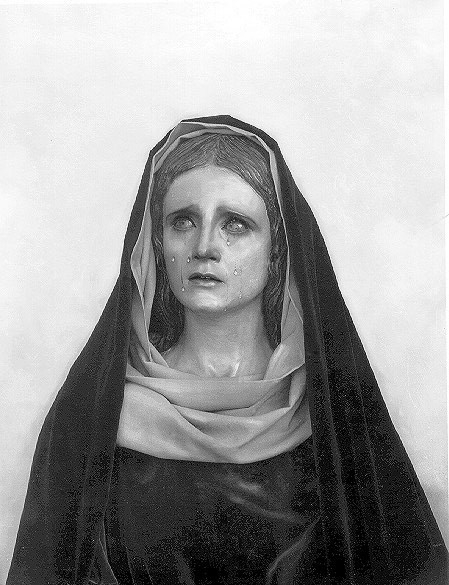 Busto de la Virgen de las Lágrimas.