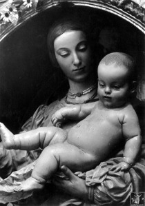 Detalle de la Virgen de Belén obra de Pedro de Mena