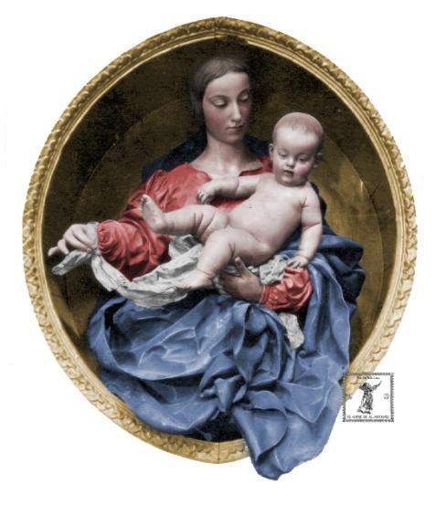 Virgen de Belen (corpiño carmin)