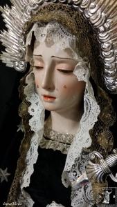 Virgen de la Soledad. Perfil izquierdo.