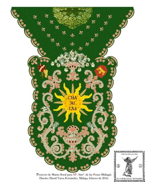 Diseño de manto floral
