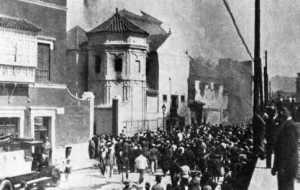 Incendio de la iglesia de Santo Domingo en la mañana del 12 de mayo de 1931