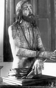 El Ecce-Homo de Mena fotografiado por Orueta antes de 1914.