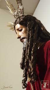 Perfil izquierdo del Cristo