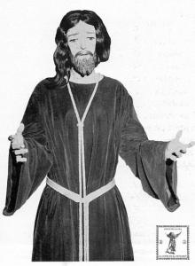 El Cristo del Despedimiento en su iconografía original.