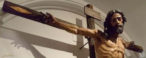 Detalle del Cristo del Gran Amor venerado en la iglesia del Císter.