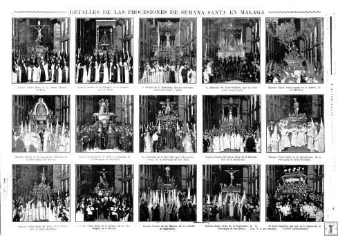 Fotografías captadas por Sánchez que aparecieron publicadas en el semanario gráfico La Unión Ilustrada el 26 de abril de 1922.