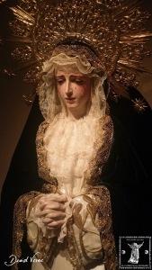 Busto de la Dolorosa en una imagen que evoca cómo debió concebirse.
