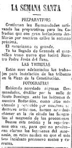 5 de abril de 1922. Primera noticia acerca de las fotografías que se realizarían ante la sede del diario.