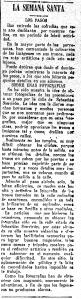La Unión Mercantil, 7 de abril de 1922.