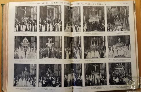 Reportaje fotográfico publicado por La Unión Ilustrada el 26 de abril de 1922. Ejemplar original. (Archivo Munipal de Málaga)