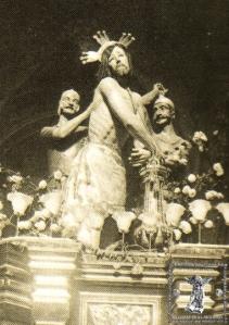 El misterio del Señor de Azotes y Columna en una imagen próxima a 1922.